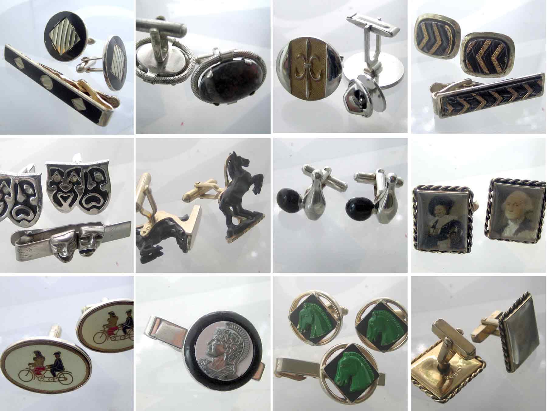 ชุด cufflink และ clip necktie original vintage มีหลากหลายแบบตามรูปถ่าย