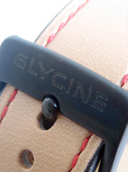 glycine KMU48 limited Thailand 04/50 ไขลาน ขนาด over size 48mm หน้าปัดดำพิมพ์พรายน้ำอารบิครอบ พิเศษส 10