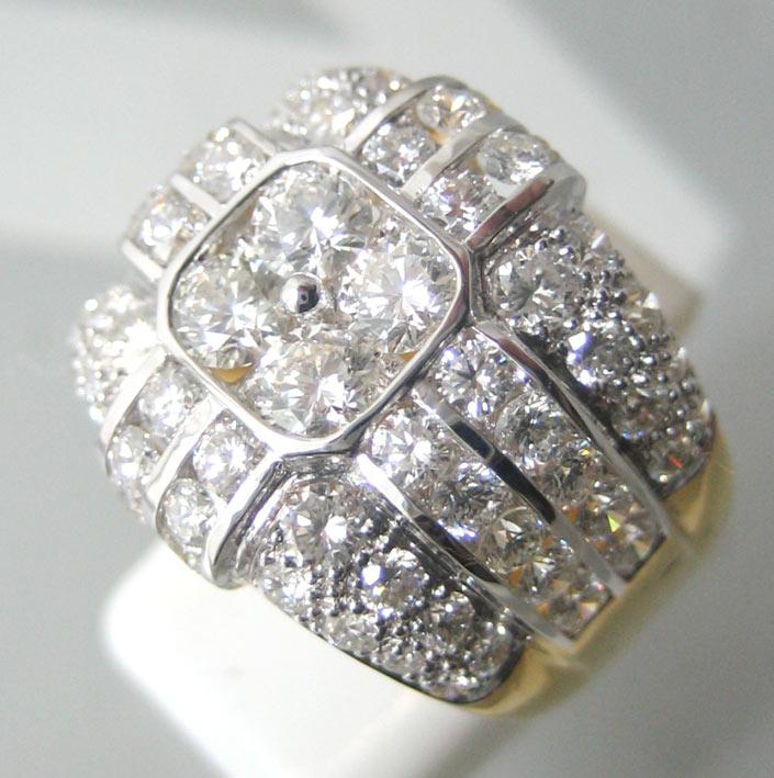 แหวนทองคำประดับเพชรแท้เม็ดหลักขนาด 0.14x4 กะรัต เม็ดรองขนาด 0.04x32 กะรัต เม็ดย่อยรวมน้ำหนัก 0.80 กะ