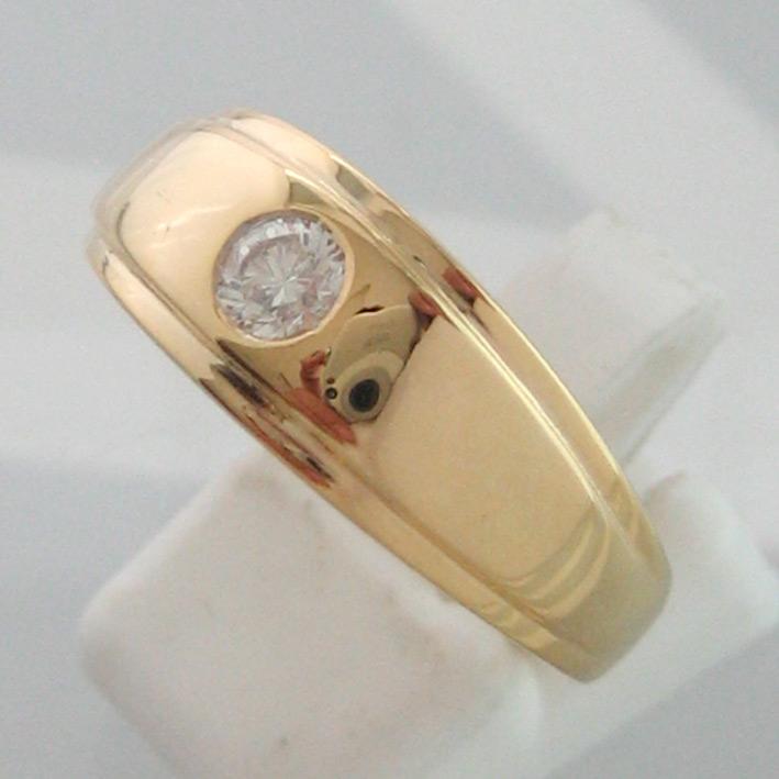 แหวนทองคำประดับเพชรแท้เม็ดเดี่ยวขนาด  0.26 กะรัต น้ำขาว 96 เบลเยี่ยมคัตไฟดีไม่มีตำหนิ ตัวเรือนทอง 90