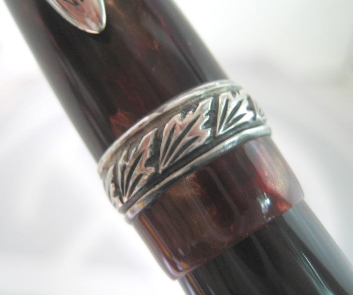 ปากกาลูกลื่น stipula collection ชุดเหน็บ silver stering 925 ตัวด้ามอครีลิคลายหิน ระบบหมุนเกลียวปลอก 2