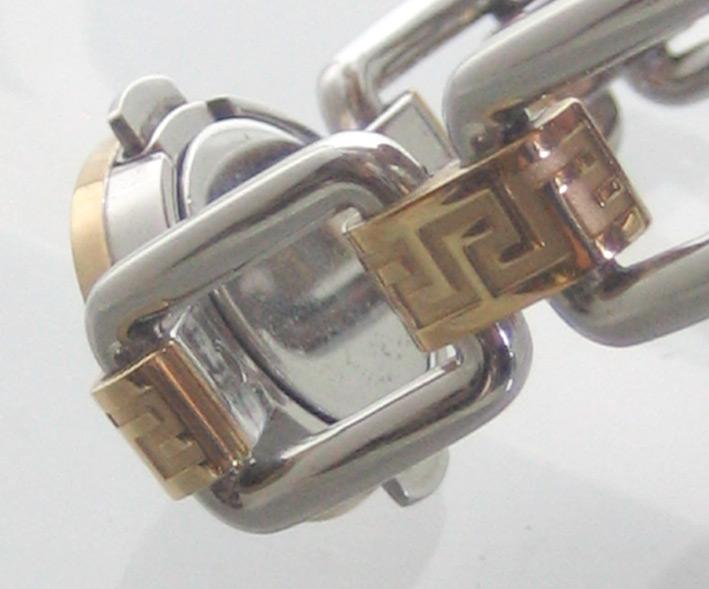 versace classic 2 กษัตริย์ for man, lady  size 30mm หน้าปัดฟ้าประดับหลักเวลาและชุดเข็มทอง กระจกโค้ง 5
