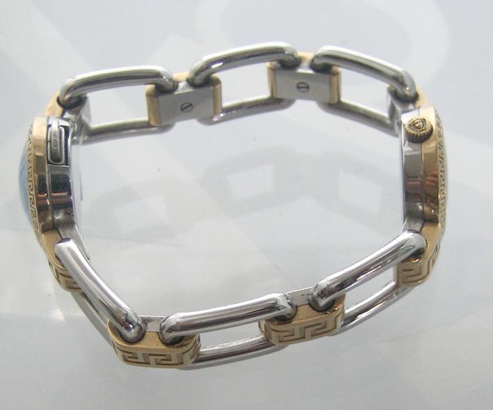 versace classic 2 กษัตริย์ for man, lady  size 30mm หน้าปัดฟ้าประดับหลักเวลาและชุดเข็มทอง กระจกโค้ง 6