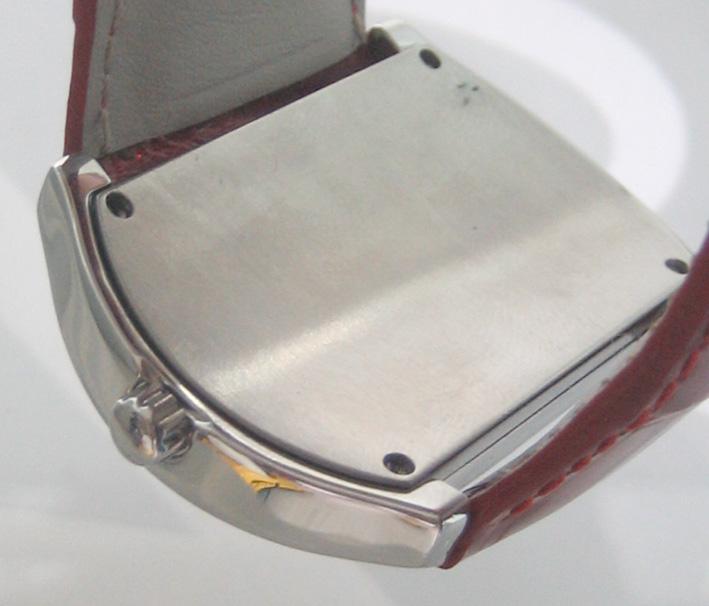 CHRISTIAN GEEN uranus diamond for lady ขนาด 34x46mm หน้าปัดเงาอารบิคสลับสี กระจกแซฟไฟล์โค้ง ขอบฝังเพ 4