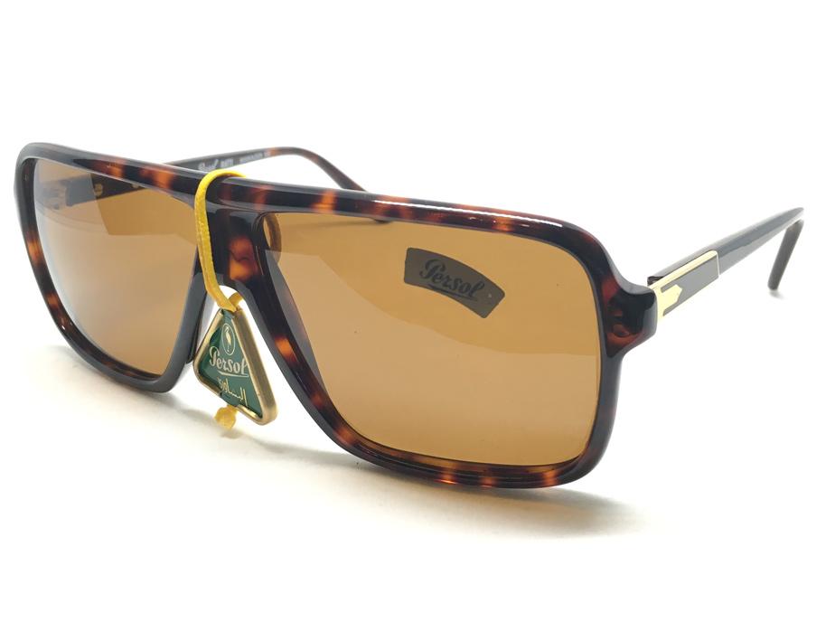 แว่นกันแดด PERSOL RATTI MANGER 102 ITALY Vintage 1980\'s size 48/125/134 เหมาะสำหรับบุรุษ สตรี เลนส์
