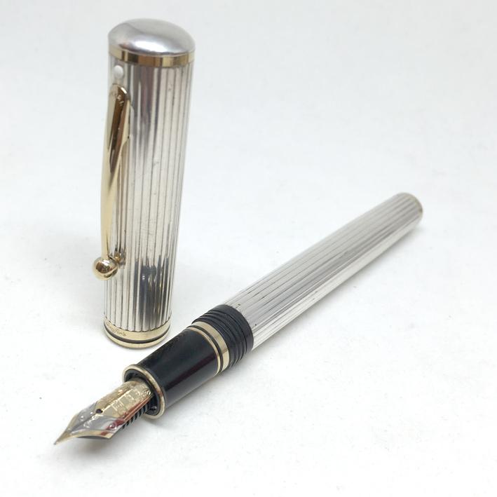 CHEAFFER\'S 1980 Spacial Foutain pen ปากเขียนทอง 18k (750) ตัวด้าม Silver sterling 925 ลายเส้น สภาพส