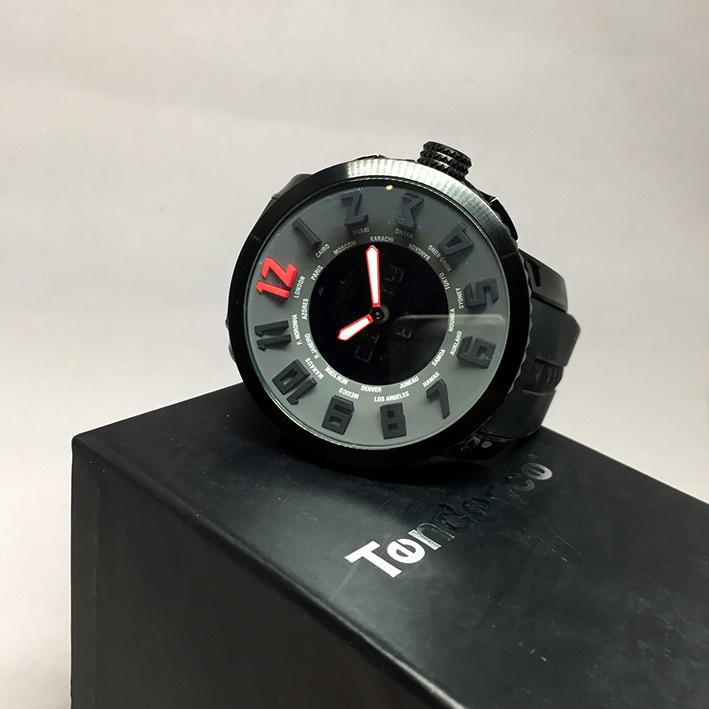 TENDENE World Time Back Digital Men's Watch Size 50 mm. (Fullset) 6