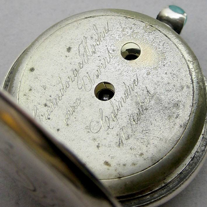 นาฬิกาพกไขลาน Pocket watch GRAINDORGE HOCHE 1930 ขนาดตัวเรือน 848mm หน้าปัดขาวกระเบื้องพิมพ์โรมันดำใ 3