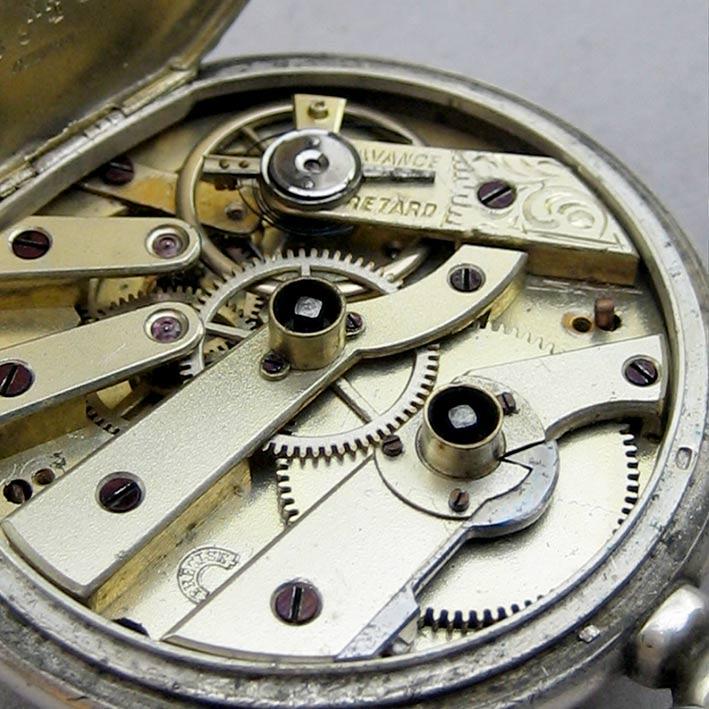 นาฬิกาพกไขลาน Pocket watch GRAINDORGE HOCHE 1930 ขนาดตัวเรือน 848mm หน้าปัดขาวกระเบื้องพิมพ์โรมันดำใ 5