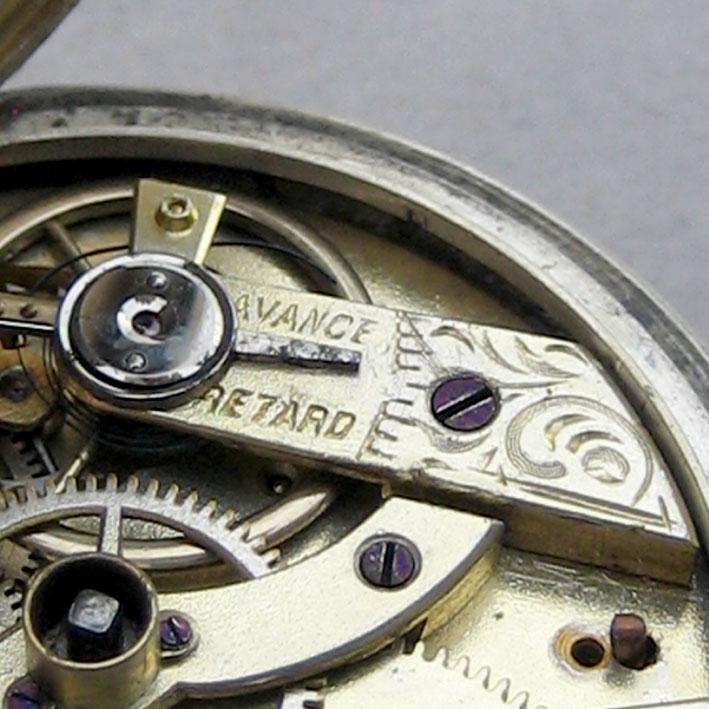 นาฬิกาพกไขลาน Pocket watch GRAINDORGE HOCHE 1930 ขนาดตัวเรือน 848mm หน้าปัดขาวกระเบื้องพิมพ์โรมันดำใ 6