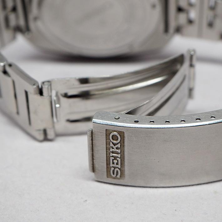 SEIKO bell-matic ยุค70 เครื่อง 17 jewel หน้าปัดน้ำเงินเข้มเงา บอกวันและวันที่ตำแหน่ง 3 นาฬิกา กระจกเ 4