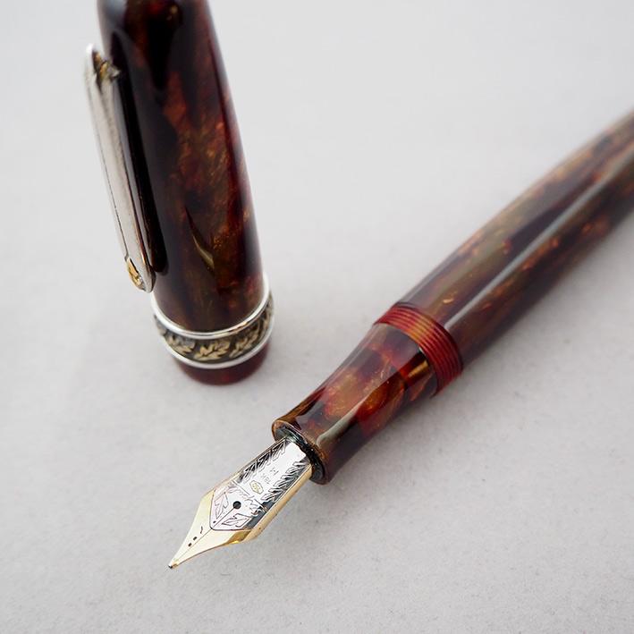 คู่ปากกาหมึกซึม และหมึกเคมี STIPULA Etruria Volterra Spacial Edition ด้ามหมึกซึมลายเส้นขนาด ปลากปากเ 7