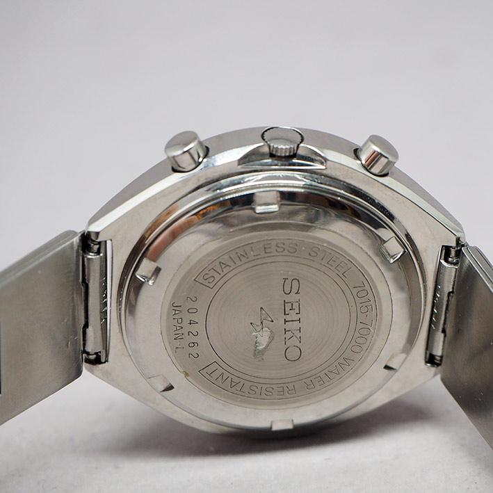 Seiko 5 sport speedtimer 7015-7000 Chronograph Automatic 1970s Size 39mm หน้าปัดน้ำเงินสไลด์เงาประดั 6