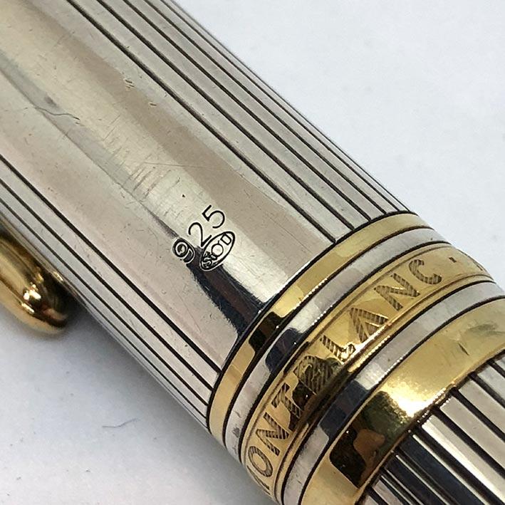 MONTBLANC Meisterstück Solitaire Cigar Sterling Silver Rollerball 2-tone วัสดุตัวเรือน Silver sterli 3