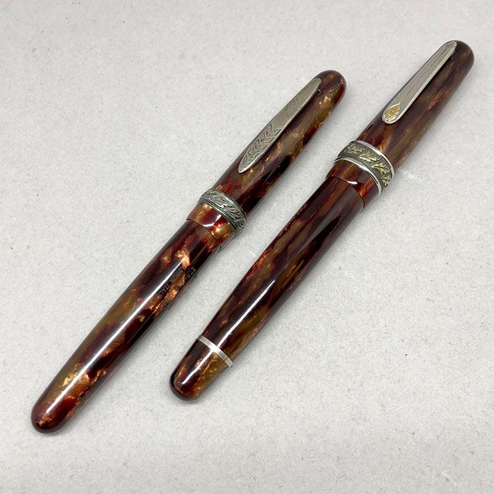 คู่ปากกาหมึกซึม และหมึกเคมี STIPULA Etruria Volterra Spacial Edition ด้ามหมึกซึมลายเส้นขนาด ปลากปากเ 3