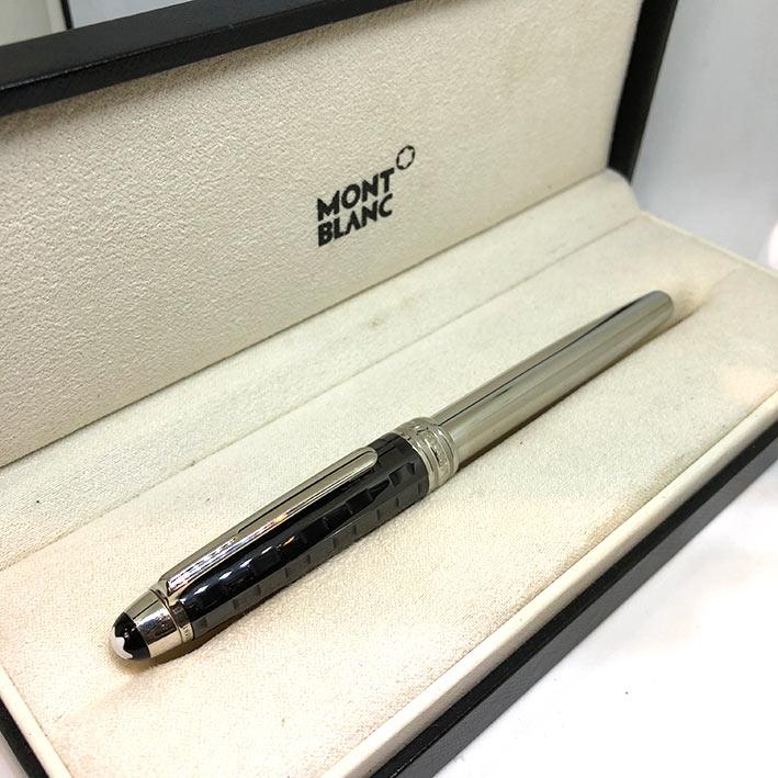 ปากกาหมึกเคมี lMONTBLANC Meisterstuck Solitaire Ceramics Black Prisma Roler ball ตัวด้ามเคลือบแพ็ตติ 3