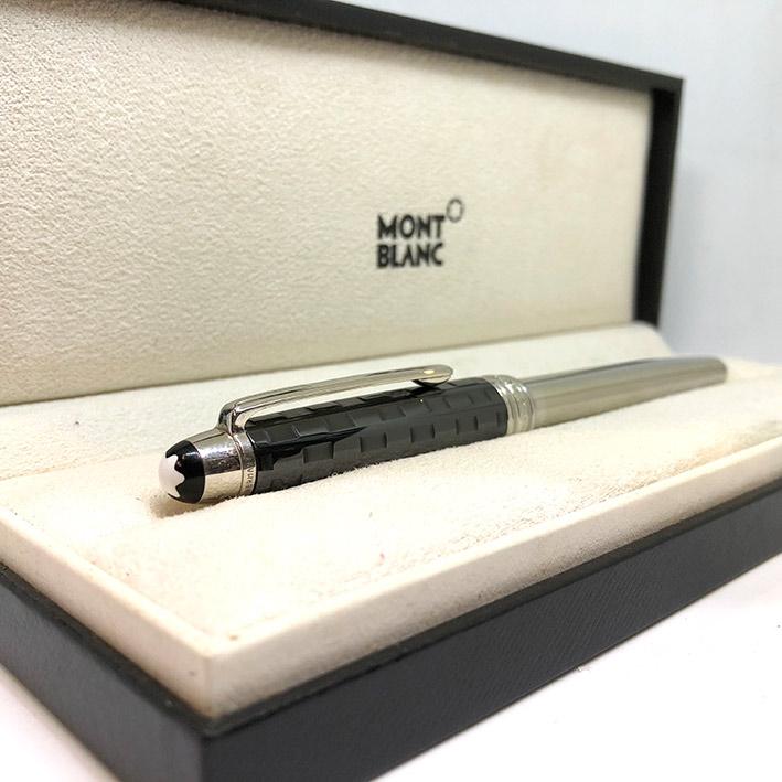ปากกาหมึกเคมี lMONTBLANC Meisterstuck Solitaire Ceramics Black Prisma Roler ball ตัวด้ามเคลือบแพ็ตติ 4
