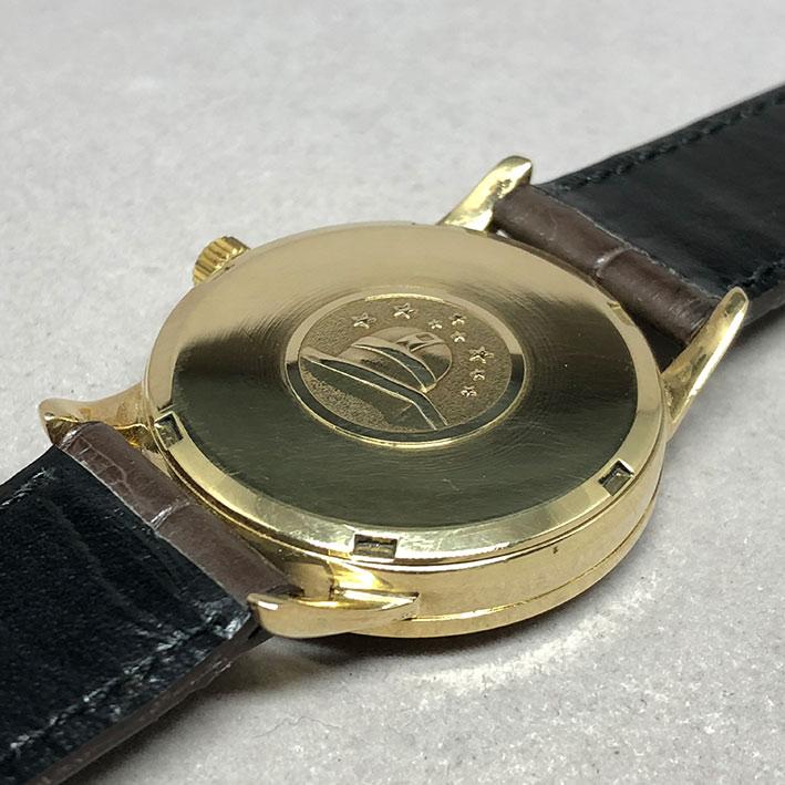 OMEGA Costellation date 1970 chronometer 18k gold ขนาด 34mm หน้าปัดเหลืองทองประดับหลักเวลาขีดทองลงยา 4