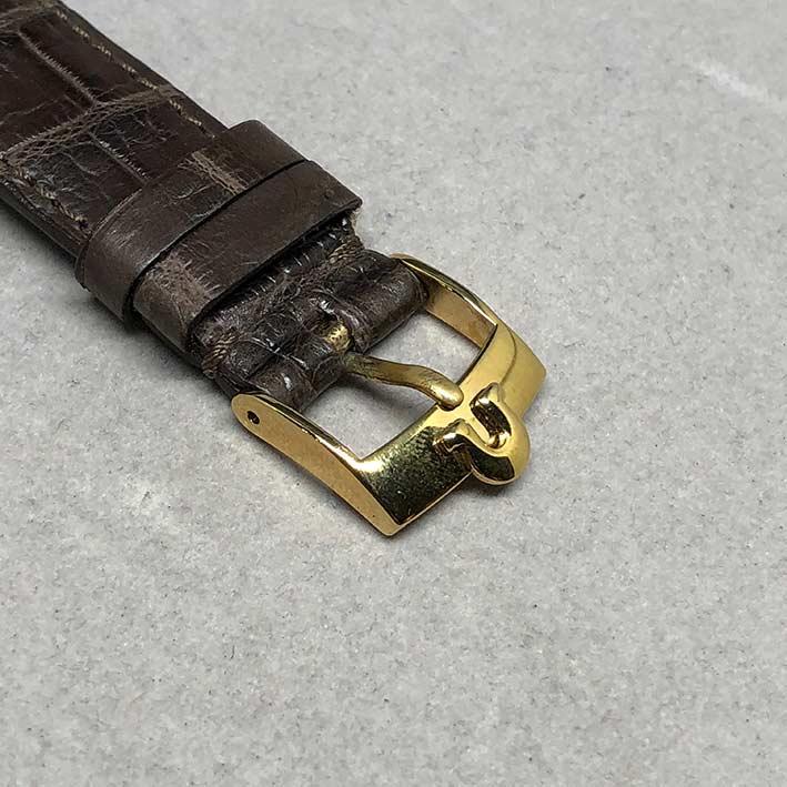 OMEGA Costellation date 1970 chronometer 18k gold ขนาด 34mm หน้าปัดเหลืองทองประดับหลักเวลาขีดทองลงยา 8