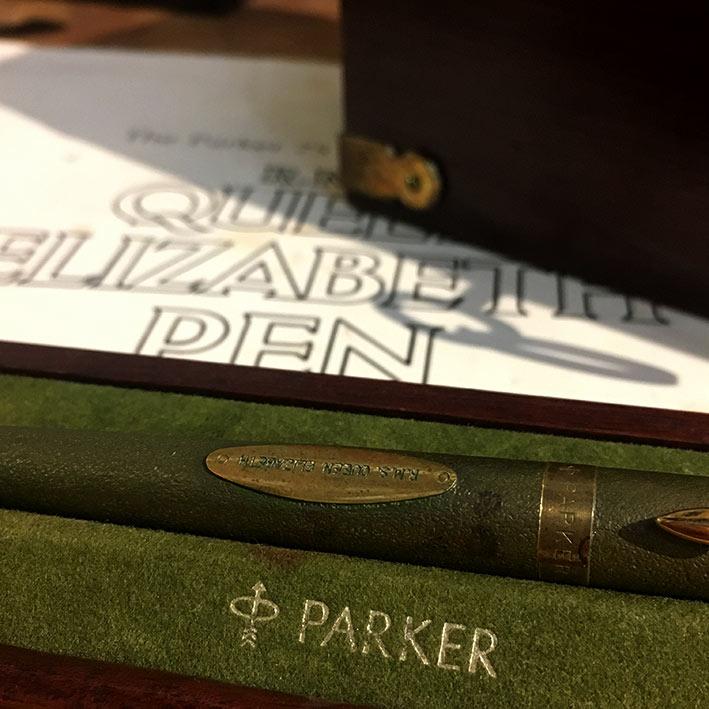 PARKER 75 R.M.S. QUEEN ELIZABETH Limited Edition 3977 / 5000 Fountain Pen ปากเขียนทองชมพู 14k 585 วั 4