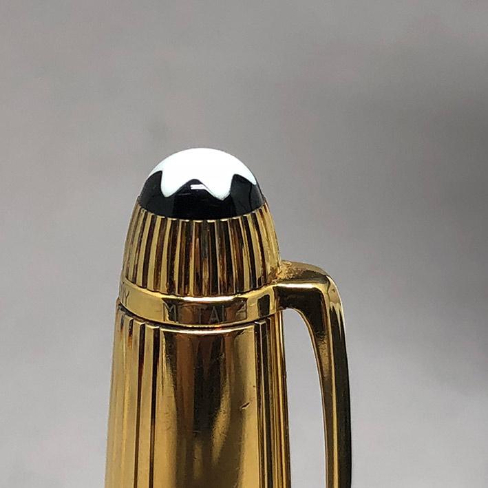ปากกาหมึกเคมี MONTBLANC meisterstuck ตัวด้ามลายเส้น วัสดุเงินแท้ silver sterling 925 เคลือบทองหนา ชุ 2
