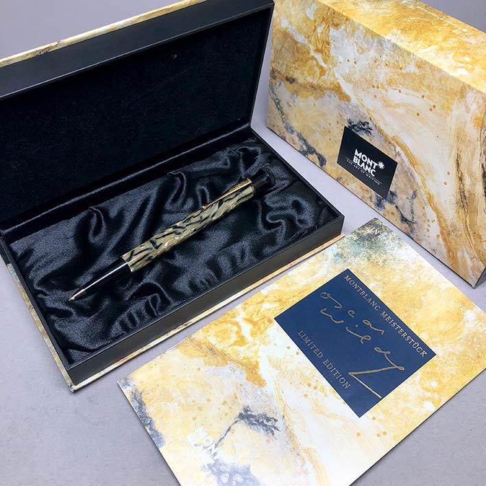 ปากกาหมึกแห้ง MONTBLANC ปี 1994 Limited 10339 / 13000 OSCAR WILDE ตัวด้ามอครีลิคลาย พร้อมชุดเหน็บเคล 1