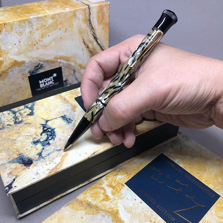 ปากกาหมึกแห้ง MONTBLANC ปี 1994 Limited 10339 / 13000 OSCAR WILDE ตัวด้ามอครีลิคลาย พร้อมชุดเหน็บเคล 2