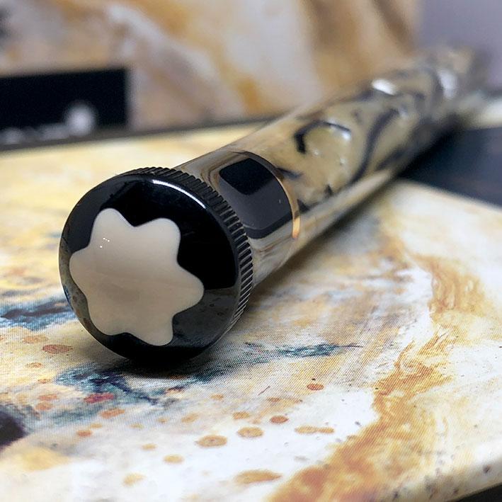 ปากกาหมึกแห้ง MONTBLANC ปี 1994 Limited 10339 / 13000 OSCAR WILDE ตัวด้ามอครีลิคลาย พร้อมชุดเหน็บเคล 6