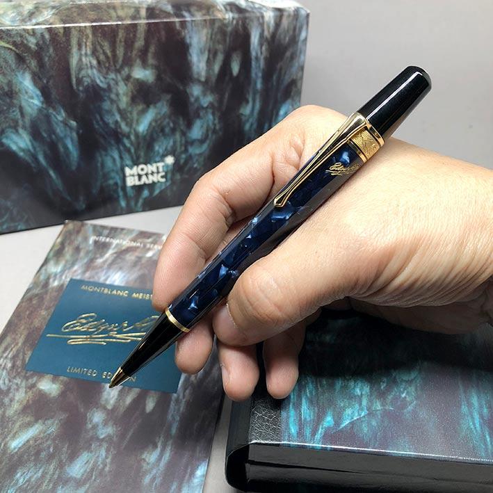 ปากกาหมึกแห้ง MONTBLANC ปี 1998 Limited 03768 / 15000 EDGAR A. POE ตัวด้ามอครีลิคลาย พร้อมชุดเหน็บเค
