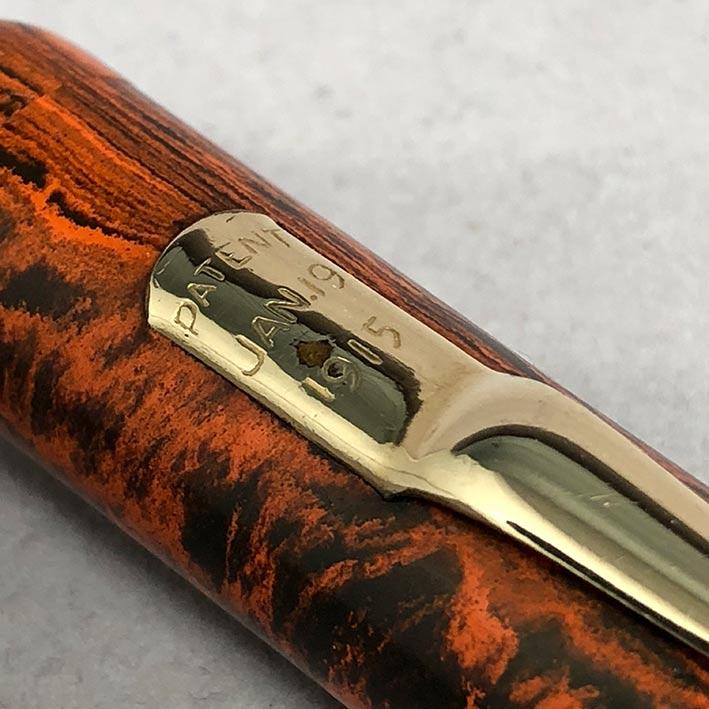 ปากกาหมึกซืมวินเทจ MABIE 1915 ตัวด้าม Hard Rubber ระบบสำลองหมึกลูกยางใช้เหน็บทองสปริงโช็คหมึก สภาพสว 7