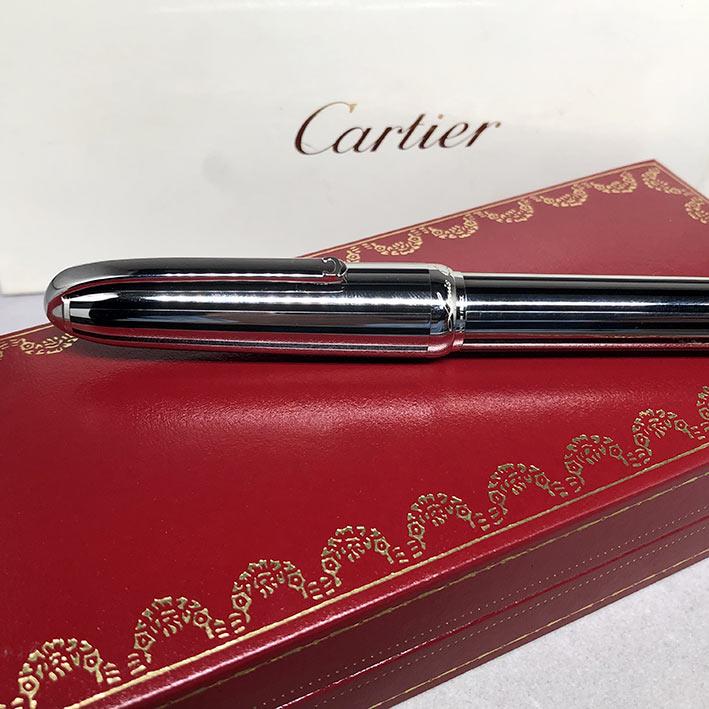 ปากกาหมึกซึม CARTIER Stylo Plume Limited 1808/1847 ปากทองขาว 18k (750) ตัวด้ามและชุดเหน็บเคลือบแพ็ตต 1