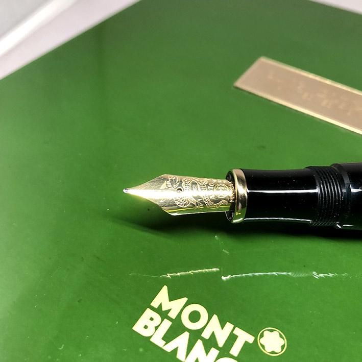 ปากกาหมึกซึม MONTBLANC Qing Dynasty Limited Edition ผลิตเพียง 1232 / 2000 ตัวเรือนส่วนล่างอครีลิคดำส 2