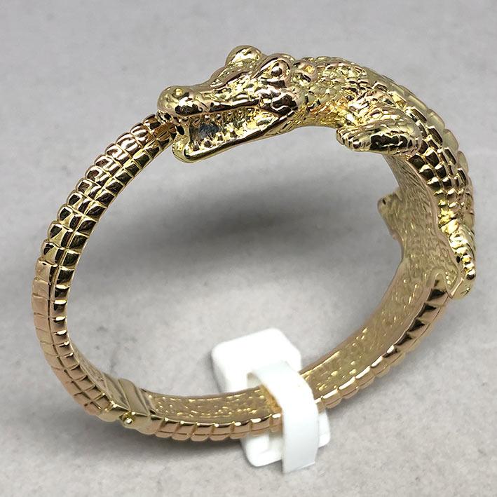 กำไลทองคำ 14k รูปทรงจระเข้ รัดรอบข้อมือ งานโปร่งสวย น้ำหนักทองช่างรวม 10.4 กรัม ขนาดวงรอบข้อมือที่สว 3