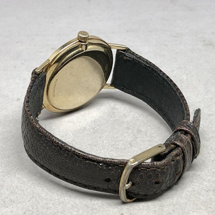 LORD ELGIN 23 1970 ระบบไขลาน ขนาด 33mm หน้าปัดบรอนซ์เงินประดับหลักเวลาขีดทอง เดินเวลา 3 เข็ม กระจกเซ 4