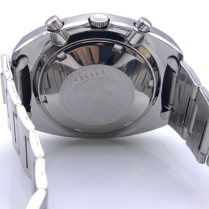Seiko Chronograph Automatic 6139-6002 1970s Size 41x46mm หน้าปัดน้ำเงินเข้มประดับหลักเวลาขีดพรายน้ำ 5