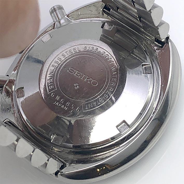 SEIKO UFO Chronograph Vintage 1970 ขนาดตัวเรือน 44mm หน้าปัดดำบอกวัน และวันที่ตำแหน่ง 3 นาฬิกา กระจก 3