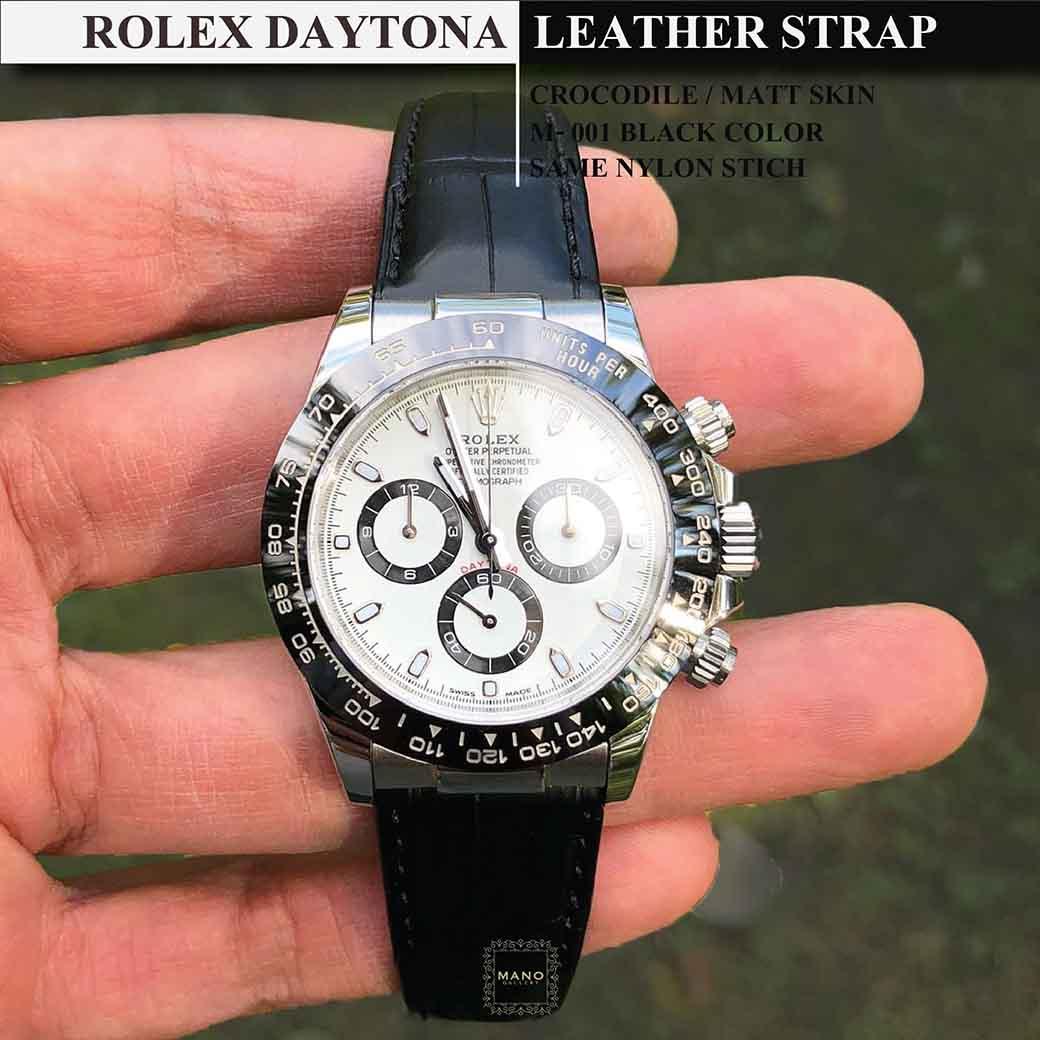 สายหนังจระเข้แท้ขนาด 20 มิล สำหรับ ROLEX DAYTONA (Custom Order)