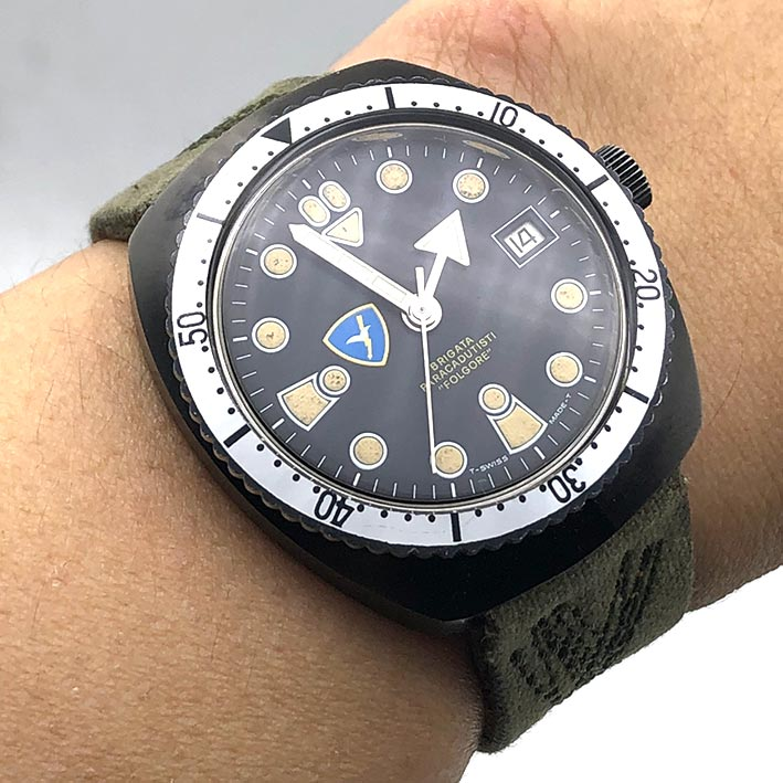 Military Watch BRIGATA PARACADUTISTI \quot; FORGORE \quot; automatic movement ขนาดตัวเรือน  37.5mm ห 6