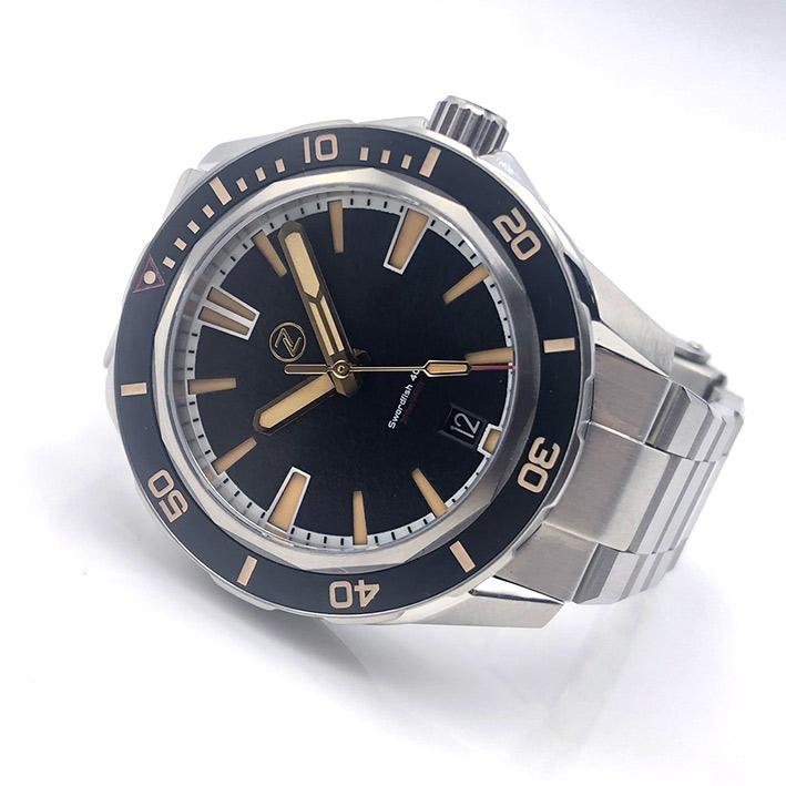 ZELOS Swordfish SS Black Sand Limited Edition 228/250 Automatic ขนาด 40 mm.