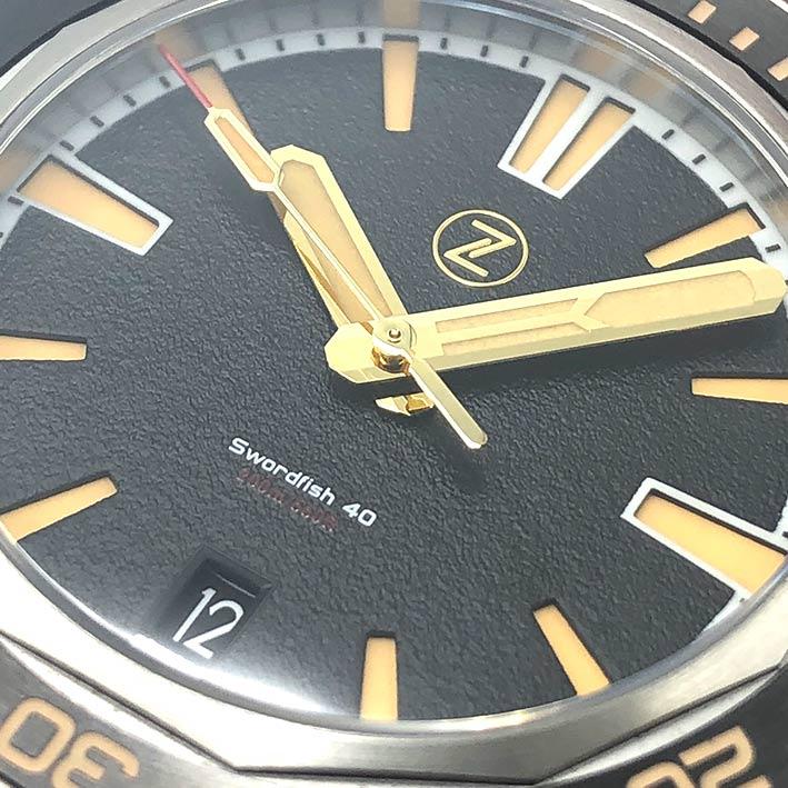 ZELOS Swordfish SS Black Sand Limited Edition 228/250 Automatic ขนาด 40 mm. 1