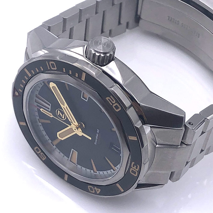 ZELOS Swordfish SS Black Sand Limited Edition 228/250 Automatic ขนาด 40 mm. 2