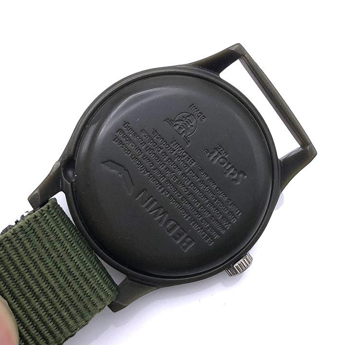 BEDWIN x Schott NYC Military Manual Winding Unisex ขนาด 35 mm. 2