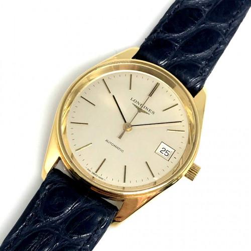 LONGINES Classic 1970s Automatic Date 18k Gold Unisex ขนาด 34 mm. | World Wide Watch Shop