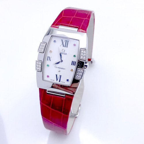 OMEGA Constellation Quadrella Diamonds Quartz สำหรับสตรี ขนาด 26x32.6 mm. (Fullset)