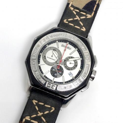 SMALTO Diamonds Swiss Made Quartz Chronograph Date ขนาดตัวเรือน 45 mm.