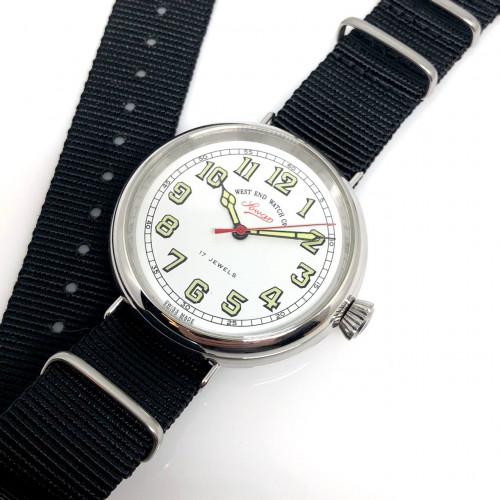 WEST END WATCH Co. Lowan Swiss Made 17 Jewels ระบบไขลาน ขนาด 42 mm. | World Wide Watch Shop