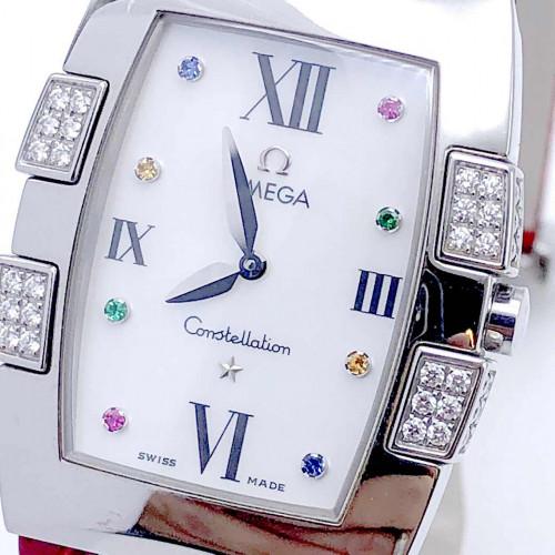 OMEGA Constellation Quadrella Diamonds Quartz สำหรับสตรี ขนาด 26x32.6 mm. (Fullset) 1