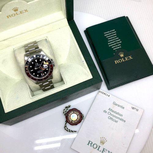 ROLEX GMT-Master II Coke 16710 D-Serial Automatic Date ขนาด 40 mm. (Fullset) | World Wide Watch Shop 4