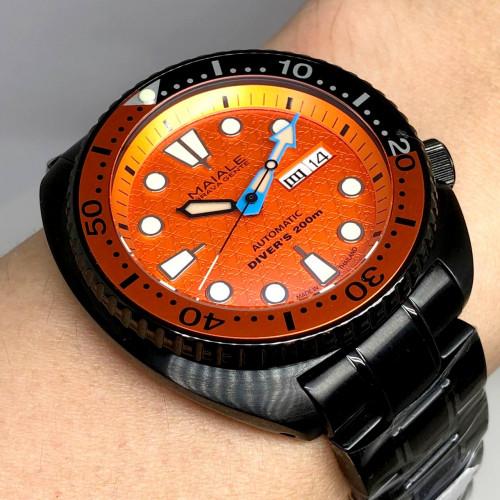 MAIALE BRAVA GENTE (MBG) Ninja Diver's 200m PVD Limited 35/100 Automatic Date ขนาดตัวเรือน 45 mm.