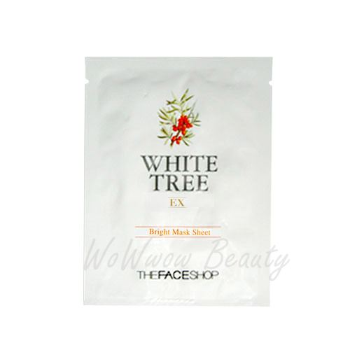 (Pre-order)the face shop white tree EX bright mask Sheet แผ่นมาส์คหน้า ช่วยให้ผิวหน้าเนียน กระจ่างใส